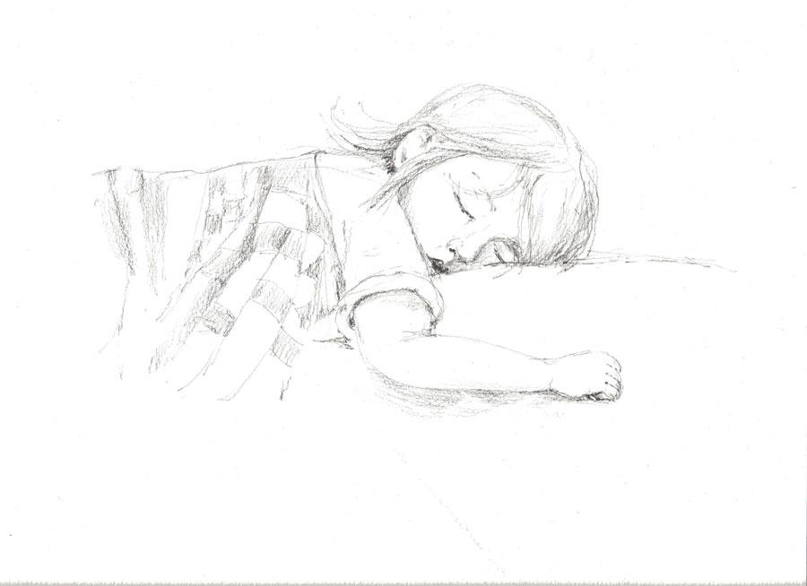 Спящий ребенок рисунки карандашом