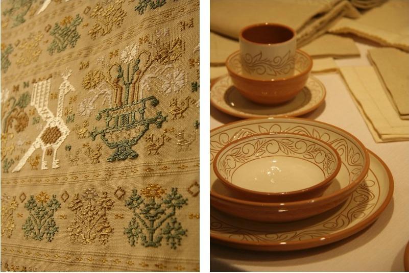 Collage ткань и плошки