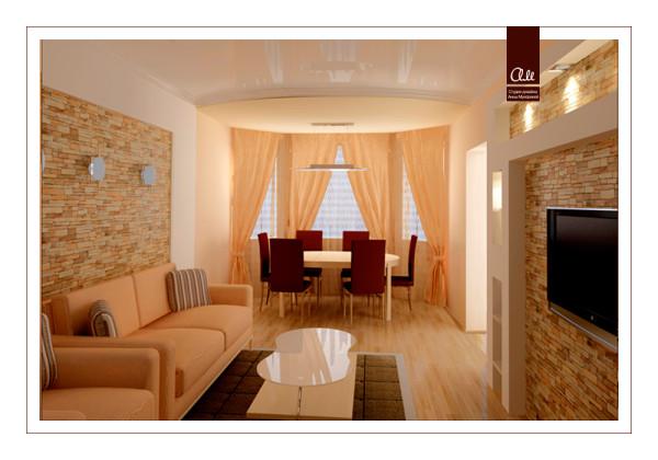 интерьер гостиной визуализация