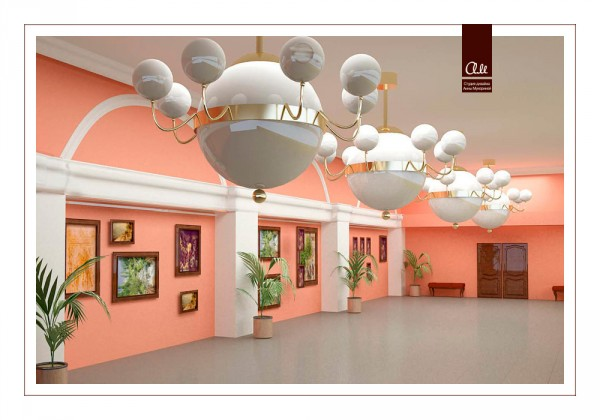 Здесь можно устраивать выставки картин