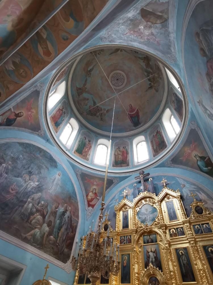 Роспись внутри Церкви Преображения Господня в Радонеж