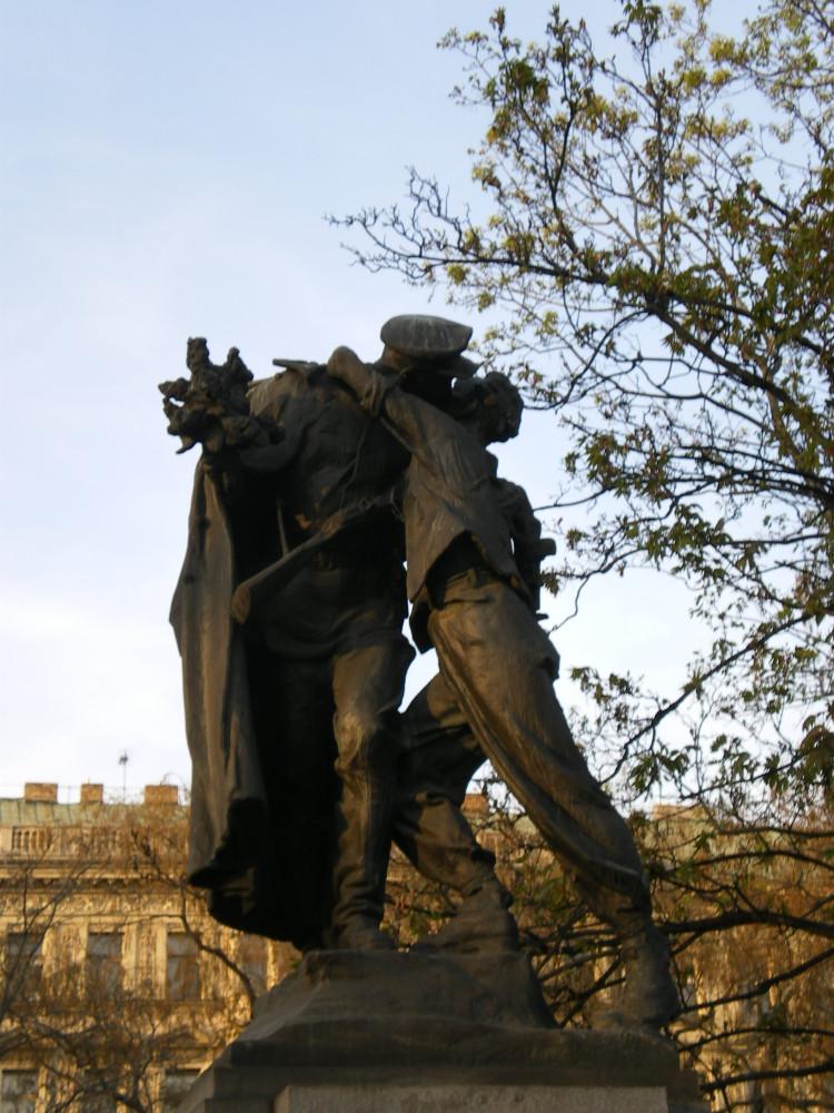 Статуя Братание Прага Сады Врхлицкого