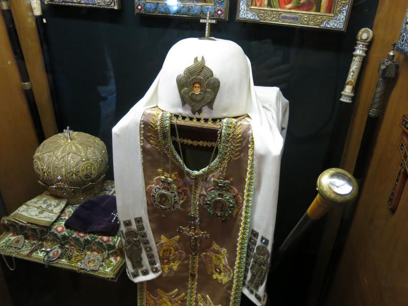 Облачение Патриарха Алексия I и его посох с часами Ракета