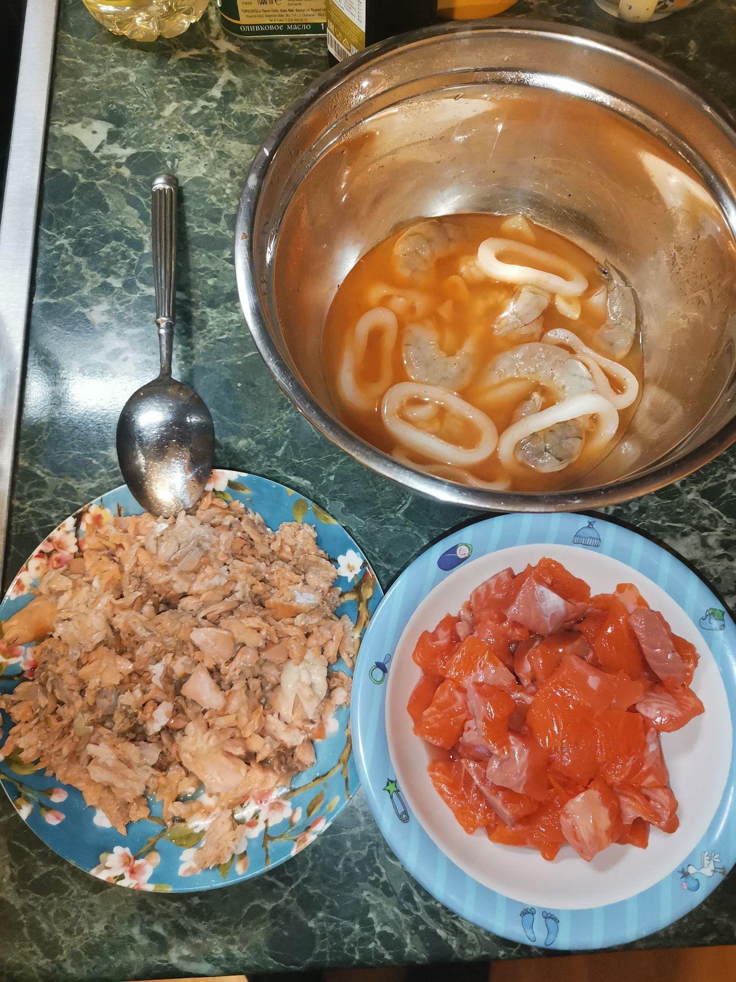 Вот весь объем рыбной части для супа