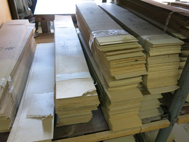 Заготовленные листы картона