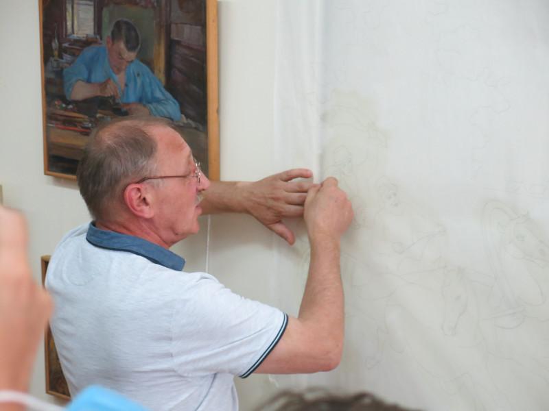 Сергей Михайлович Сидоров, главный художник и эскиз панно