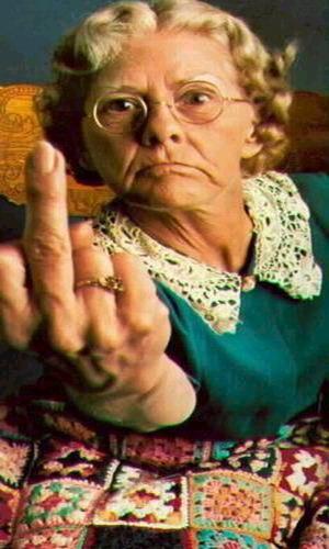бабка с пальцем