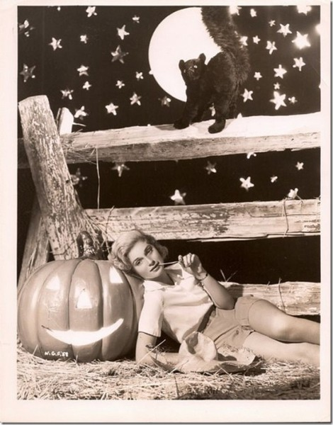 Classic Hollywood actress Nan Grey, vintage Halloween pin-up girl photo[4]