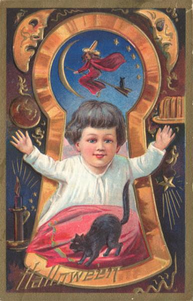 Bizarre Vintage Halloween Postcards (13)