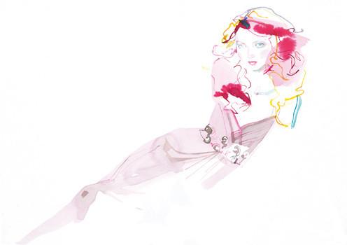Lily-Cole-Portrait-Sept2004-SketchBy-David-Downton-03