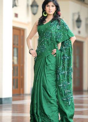 Emarald-Green-Designer-Saree