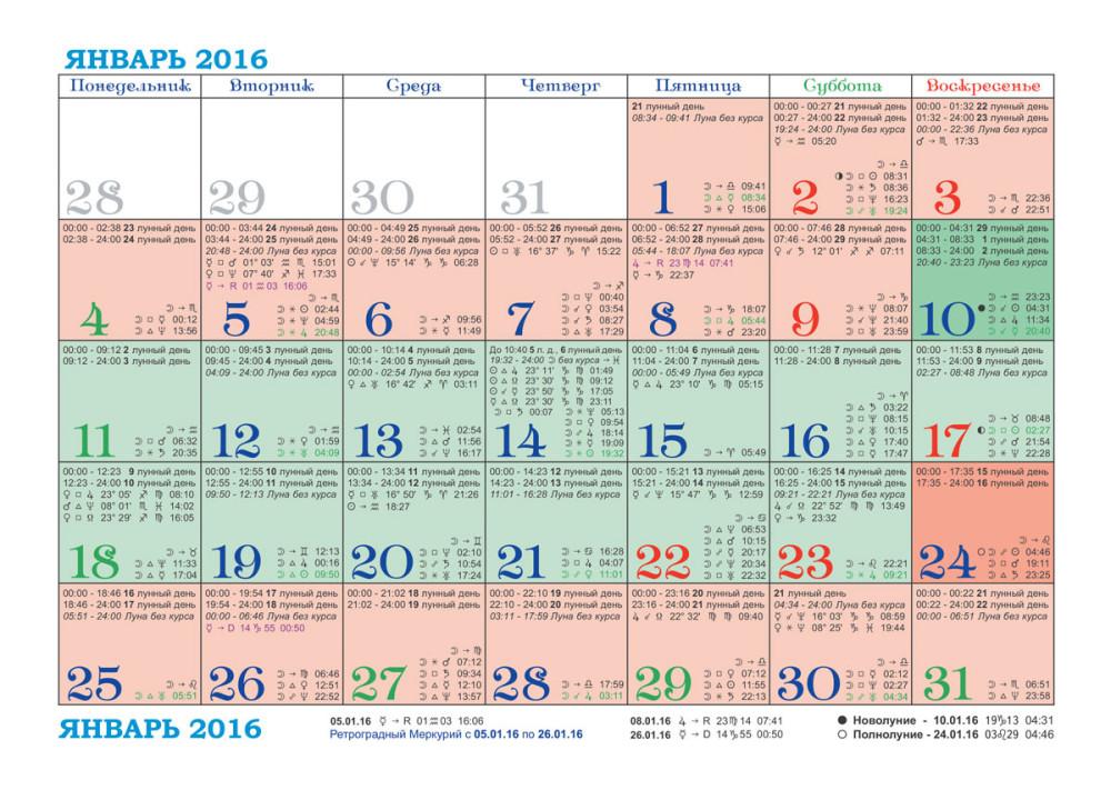 Лунный календарь фазы луны 2017-2018 2017