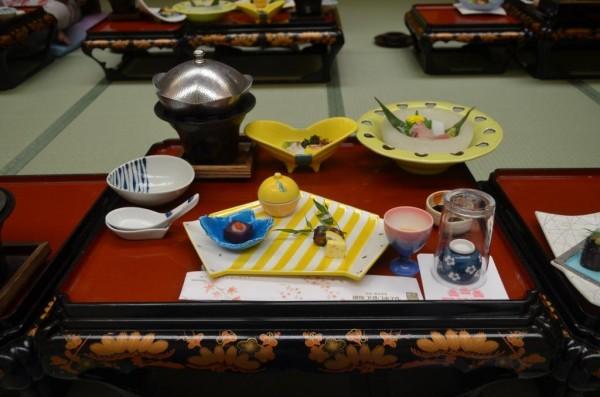 Ryokan dinner dishes