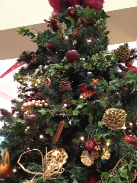 Black country museum Christmas tree