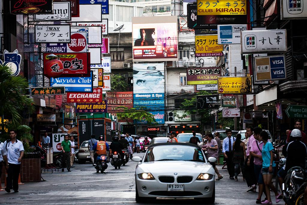 Наружная реклама в Таиланде