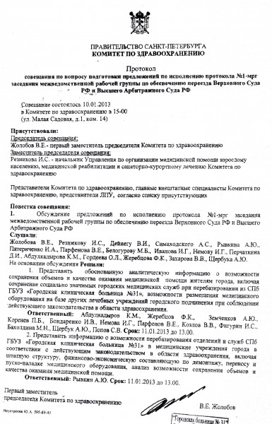 Протокол КЗ СПб