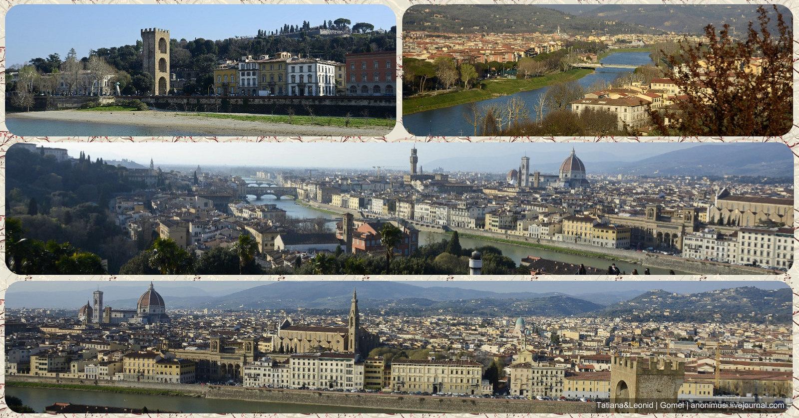 Флоренция. Площадь Микеланджело. Италия