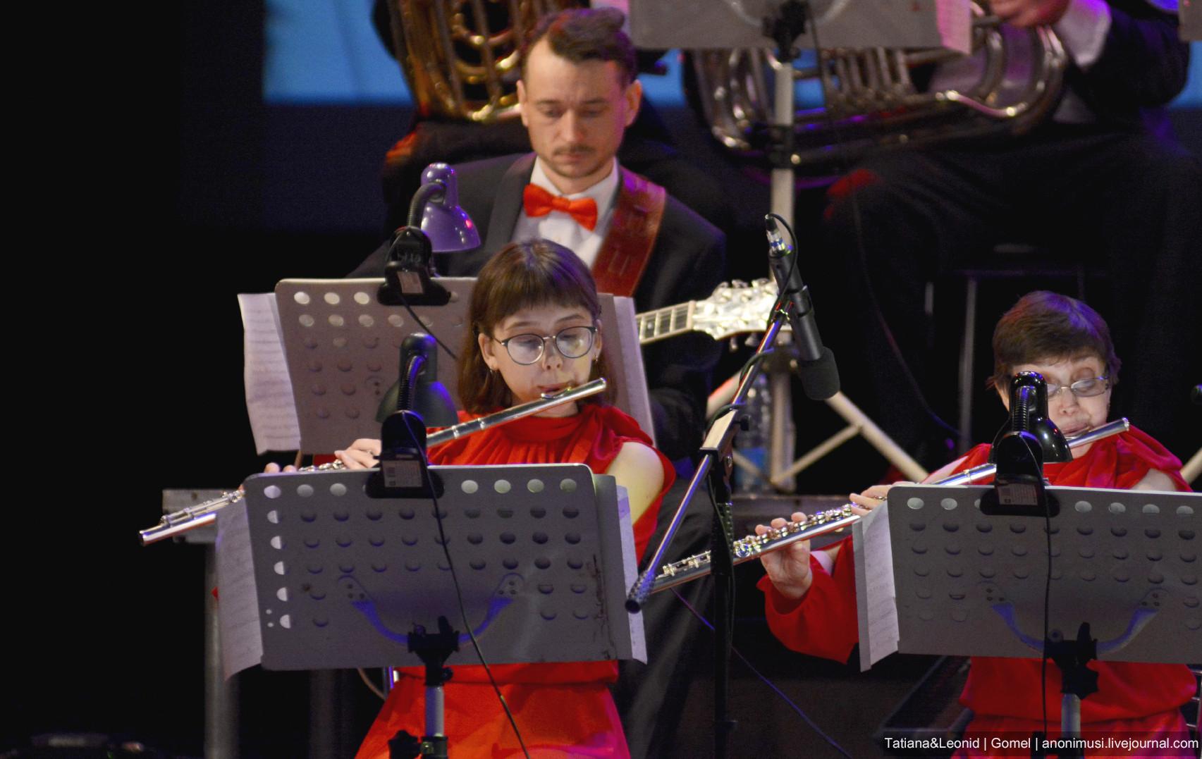 Концертный духовой оркестр и «Ритмы планеты». Гомель. Беларусь