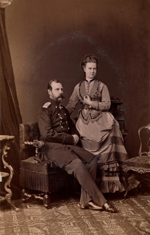 Александр II и великая княгиня Мария Александровна.1873.