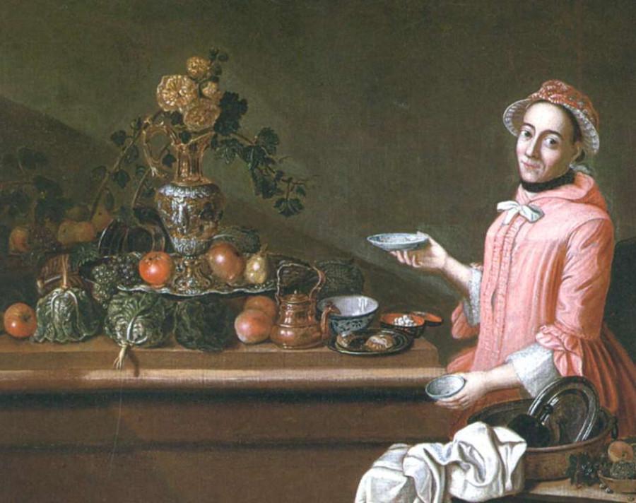П. Я. Хорманс. Дама у стола с фруктами. XVIII в.