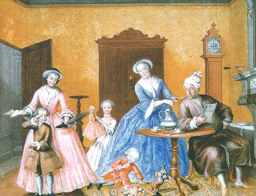М. Кристине. Рождество в семье императрицы Марии Терезии. 1762 г.