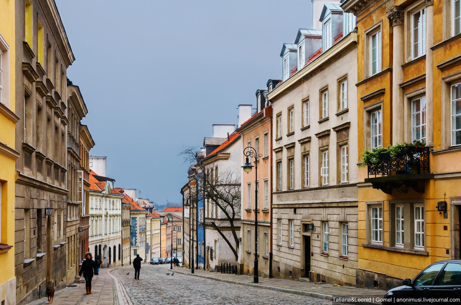 Мостовая улица в Варшаве. Польша