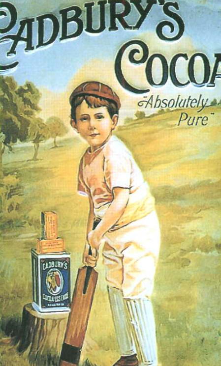 Реклама какао фирмы  Кэдбери. 1890-е гг.