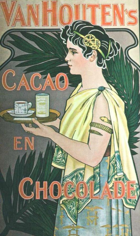 Реклама какао и шоколада фирмы ван Хаутена. 1899 г.