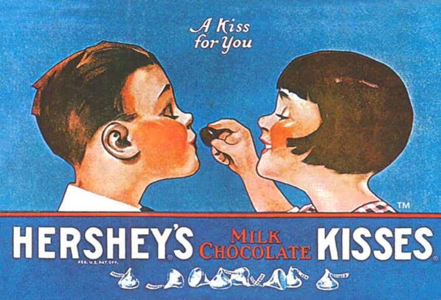 Поцелуй для тебя - реклама молочного шоколада фирмы Херши. 1962 г.