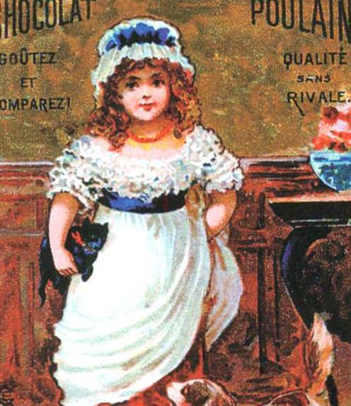 Реклама продукции французской шоколадной фабрики Пулен. Конец XIX в.