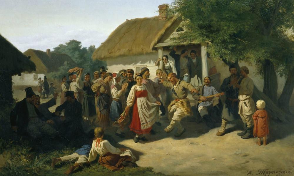 Трутовский Константин - Хоровод в Курской губернии. 1860