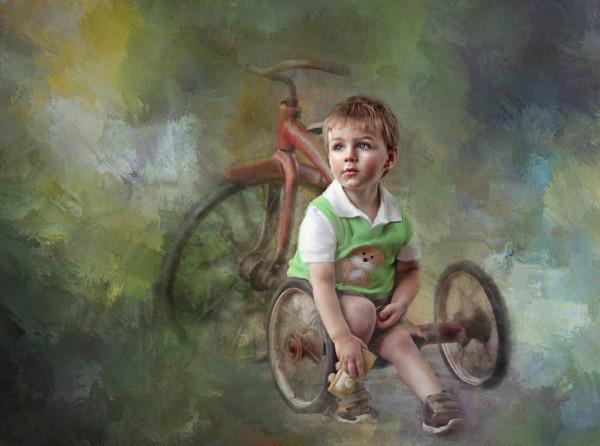 мальчик и велосипед, Richard Ramsey