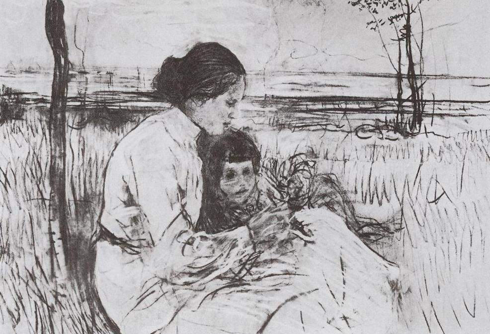 Валентин Серов. Дети художника. Ольга и Антоша Серовы. 1906