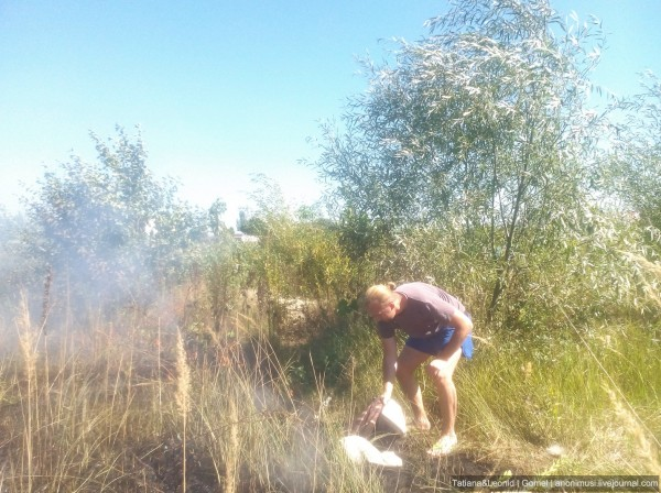 Пожар на озере