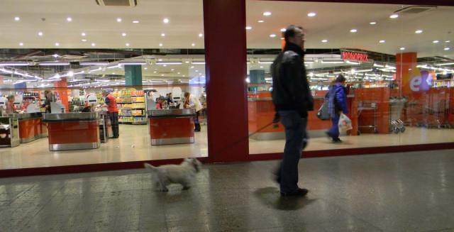 С собаками ходят везде - в магазинах, в кафе...