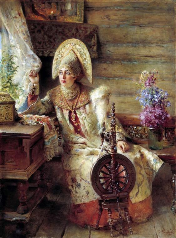К. Маковский Боярышня у окна