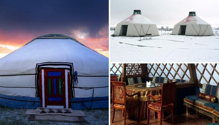 Австриец обосновавшийся в Калмыкии создал отель в юртах.