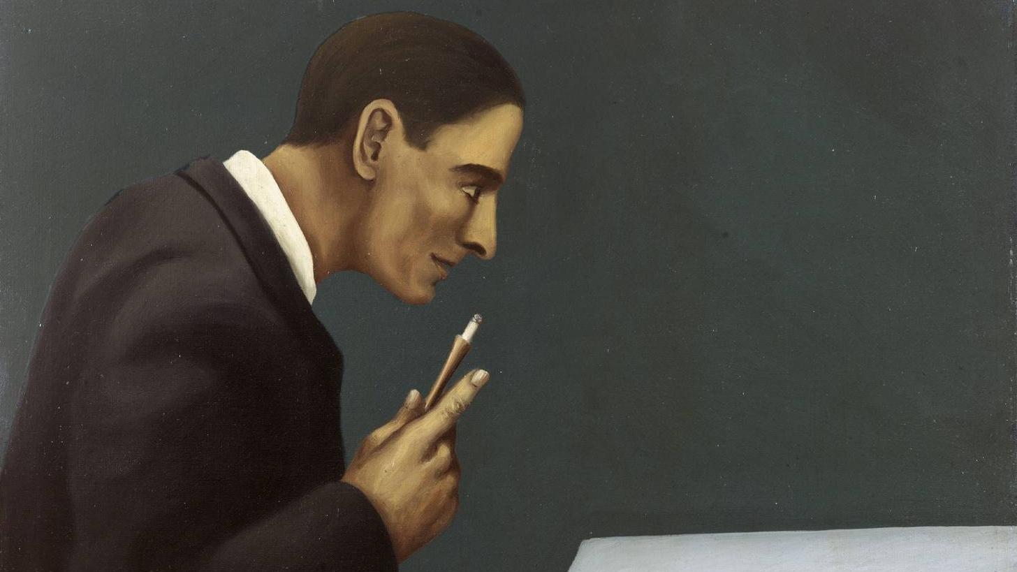 Рене Магритт. Человек, размышляющий о безумии. 1928