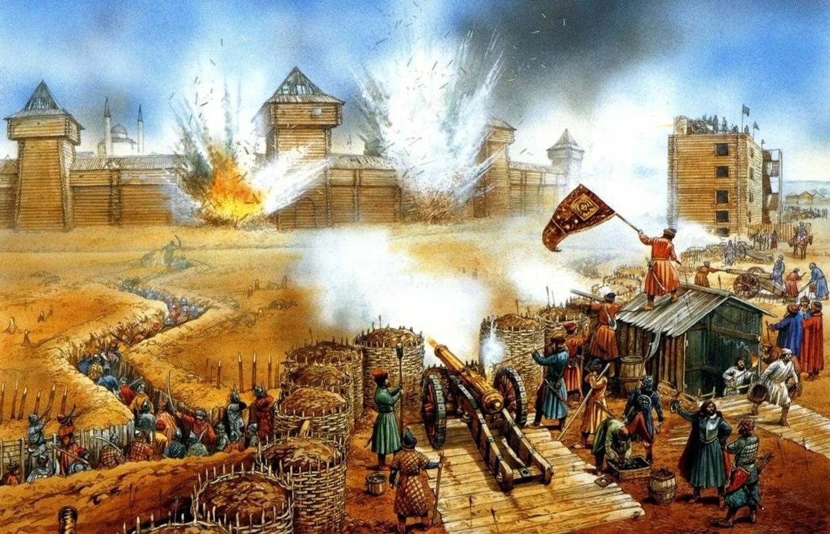 Взятие Казани войсками Ивана Грозного в 1552 г.