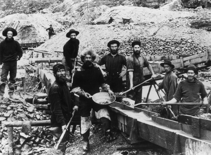 Американские золотоискатели Клондайк