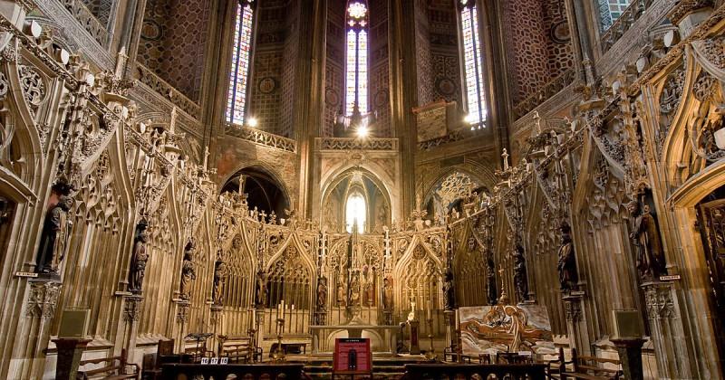 Алтарь или хор собора св. Сесили в Альби