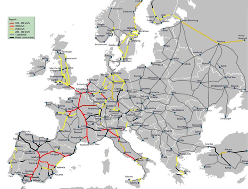 Европейский ж/д транспорт