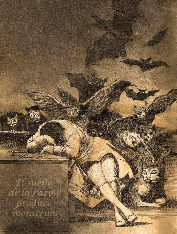 Франсиско Гойя. Сон разума порождает чудовищ.