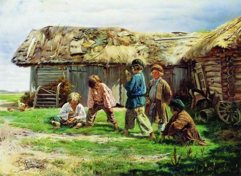 Маковский Игра в бабки