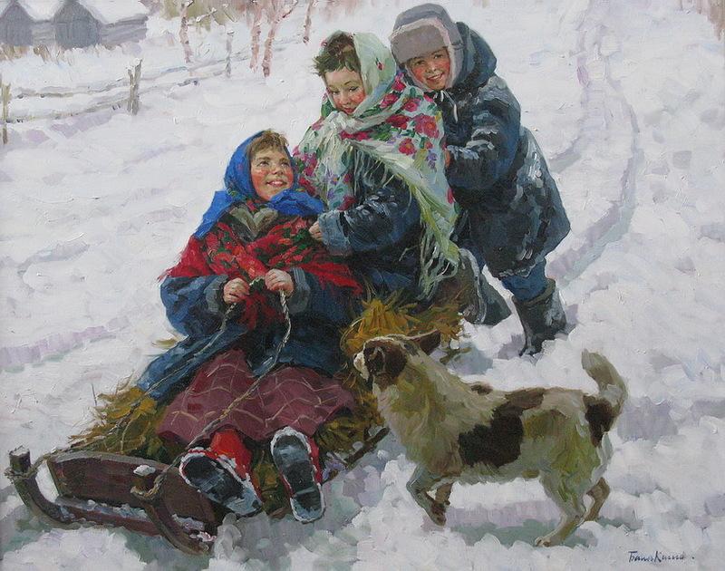 Федот Сычев Катание с горы