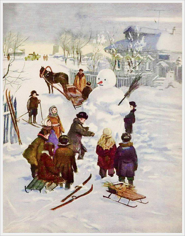 Адриан Ермолаев Зимой 1954 г