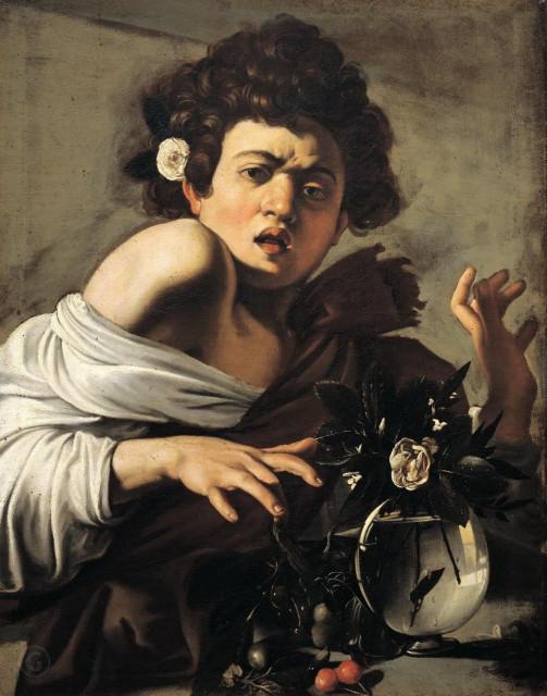 Микеланджело да Караваджо. Юноша, укушенный ящерицей. 1594