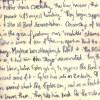 spiky handwriting