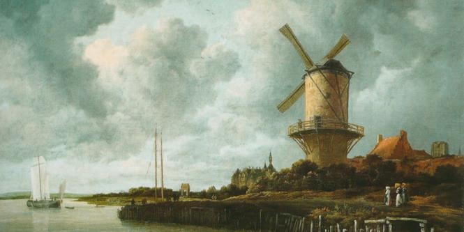 Типичный пейзаж одной из самых передовых стран Европы начала XVIII века - Голландии