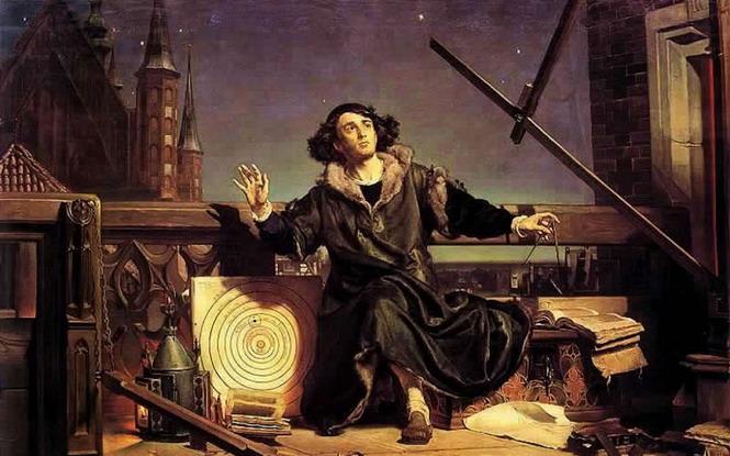 «Астроном Коперник, или разговор с Богом» (1872 г.). Вопреки распространенному мнению, Коперник начал разрушение не теистической, а натуралистической модели мира. Завершил начатое им дело Леметр.